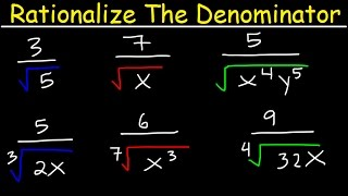 rationalize the denominator and simplify with radicals variables square roots cube roots algebra