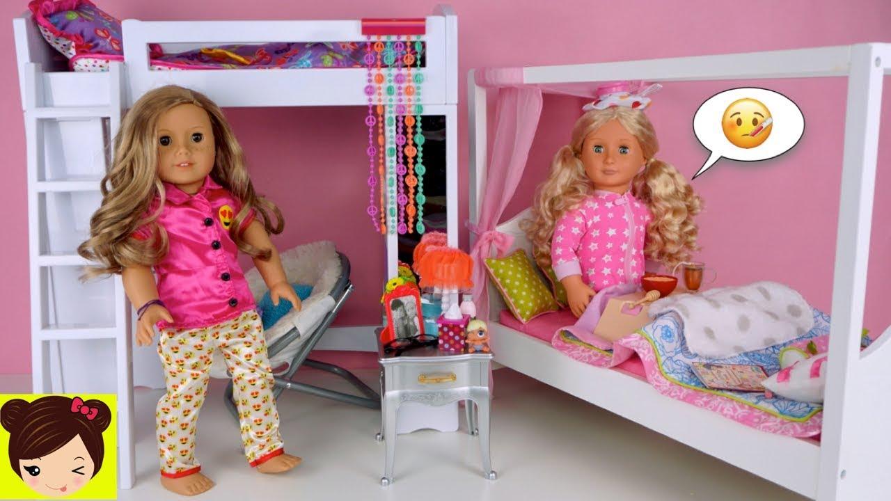 Mi Muñeca Esta Enferma Y La Cuidamos En Su Habitacion Con Litera