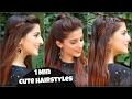 1 Min CUTE EASY Everyday Hairstyles For School College Work Alia Bhatt Indian Hairstyles