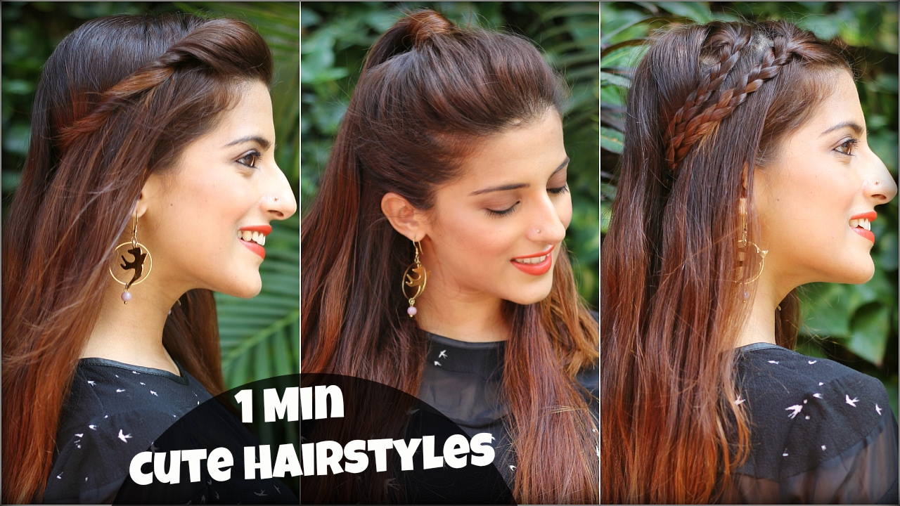1 min cute & easy everyday hairstyles