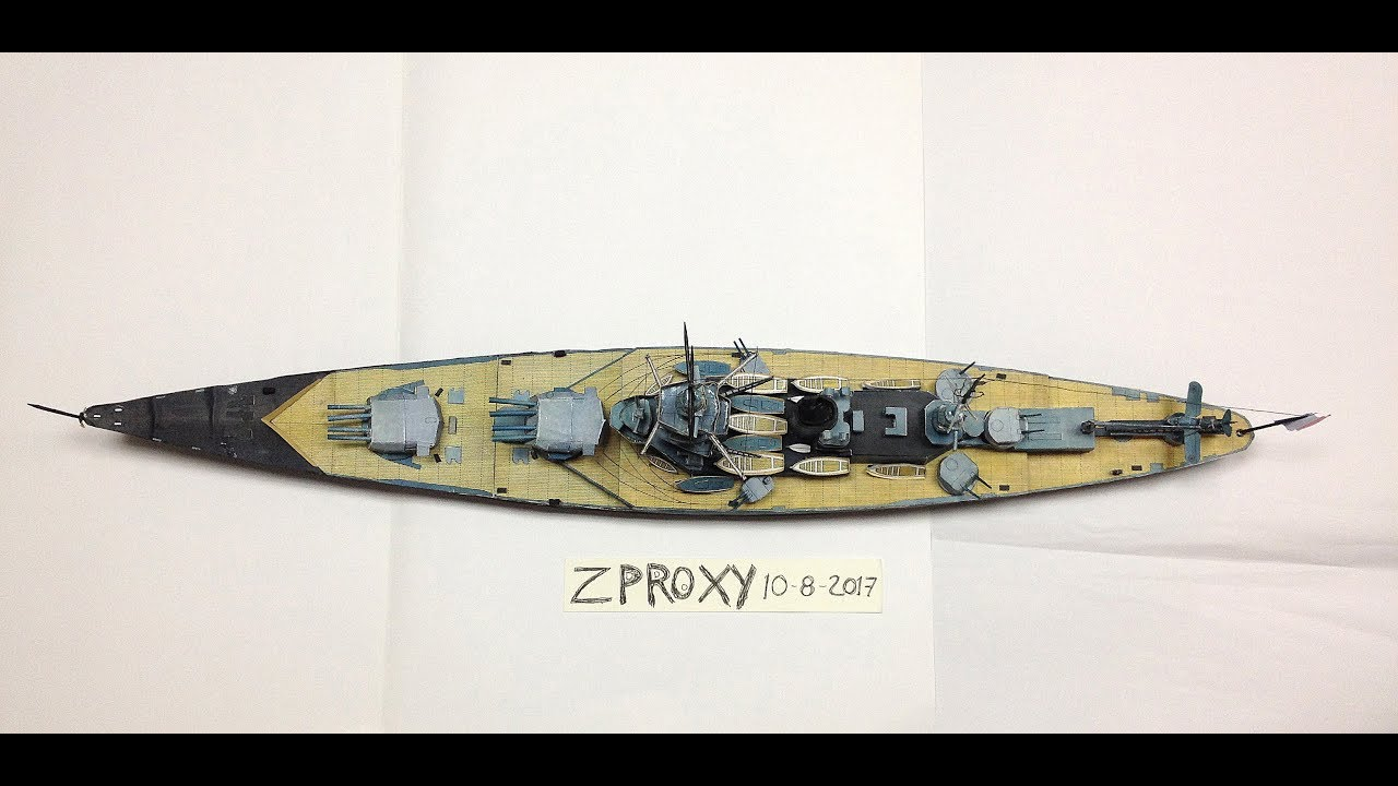 Battleship Dunkerque Paper Model Scale 1:200