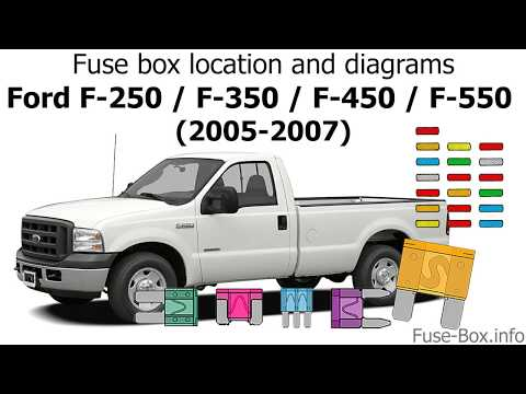 fuse box location and diagrams: ford f-series super duty (2005, 2006, 2007)  - youtube