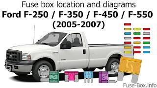 fuse box location and diagrams: ford f-series super duty (2005 ...  youtube