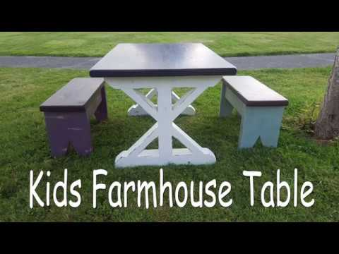 DIY Farmhouse Table U0026 Benches For Kids By BCDesign01
