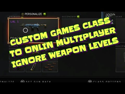 CUSTOM CLASS IN ONLINE MULTIPLAYER!!! EQUIP OPERATOR MODS AND ANY ATTACHMENT ON LEVEL 1 WEAPONS !