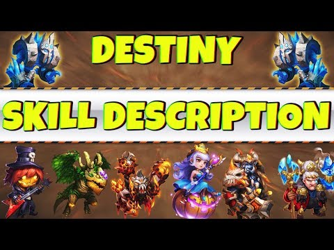 UPDATE | New Destiny Heroes | SKILL DESCRIPTION | CASTLE CLASH