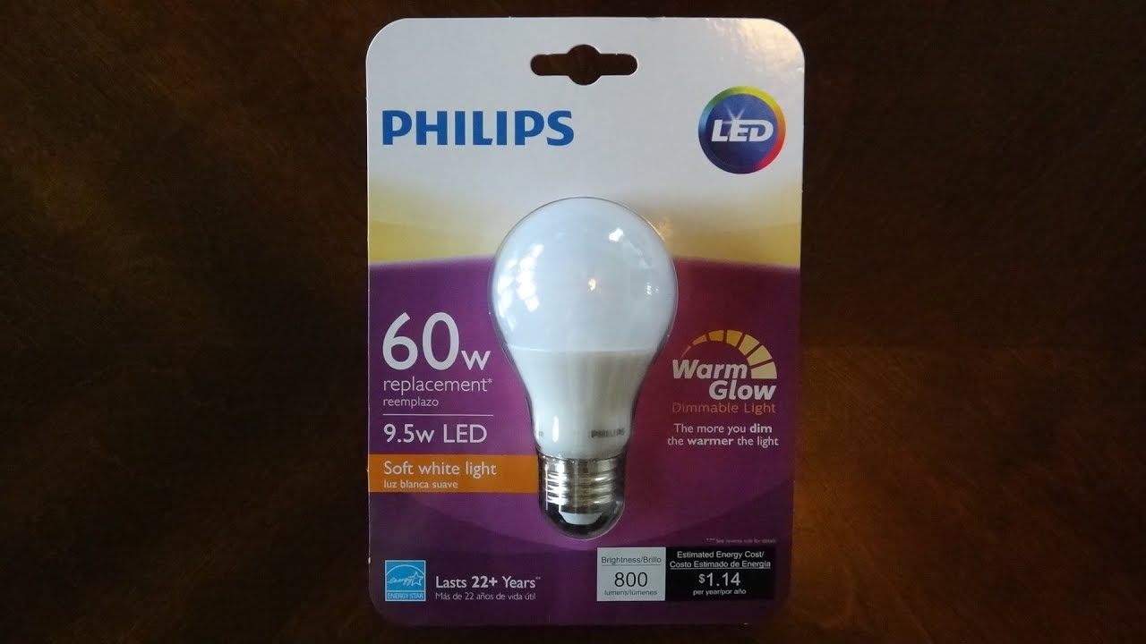 philips warm glow led light bulb youtube. Black Bedroom Furniture Sets. Home Design Ideas