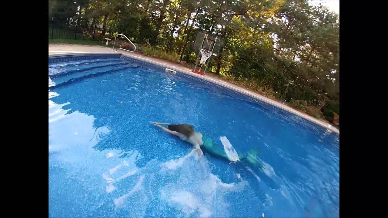 Mermaid Swimming In A Pool Youtube