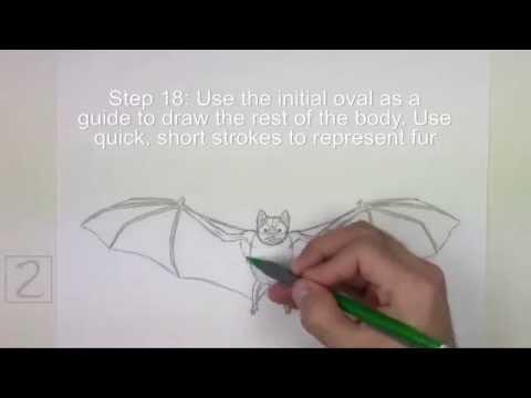 Karakalem Teknikleri Yarasa Çizimi
