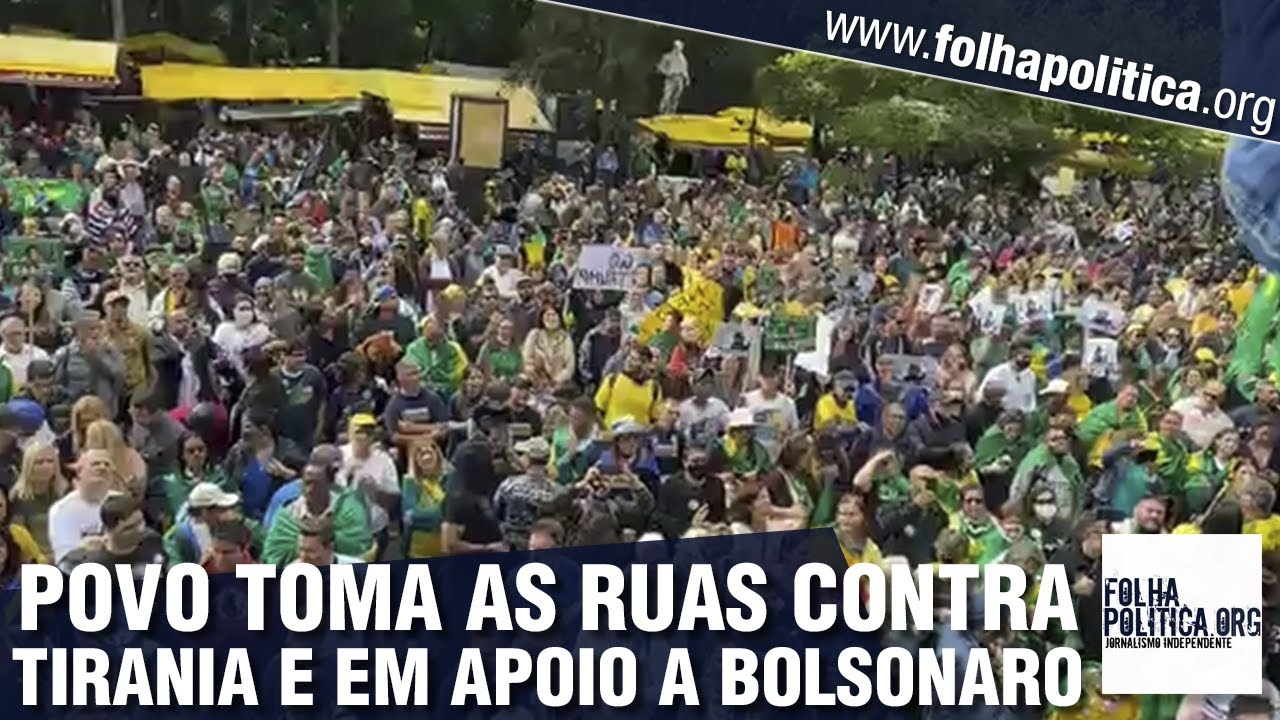 Cidadãos tomam as ruas de São Paulo em apoio a Bolsonaro e contra autoritarismo: 'Não pararemos'