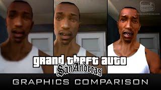 GTA San Andreas Graphics Comparison Xbox 360, PC PS2