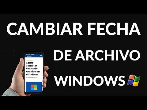 Cómo Cambiar Fecha de Archivo en Windows