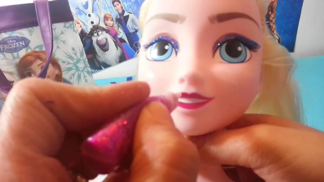 Disney Frozen Elsa Styling Head Part 1 Tete De Coiffure D Elsa Baby