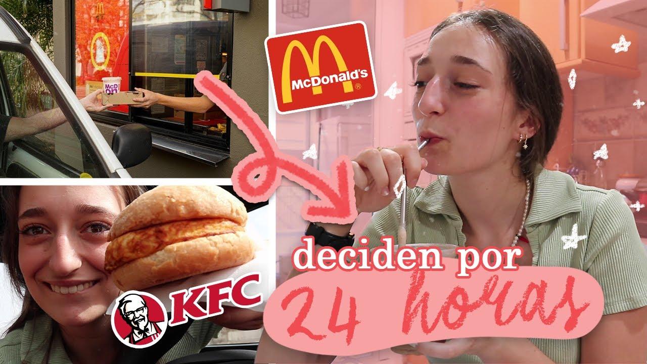 🚗 un día comiendo lo que DECIDAN LOS TRABAJADORES (muy random todo) 🍟🍪🌮 |Irene Rain