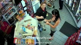 Fight Caught On CCTV Security Camera