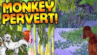 This Monkey is watching me PEE! - The Sims Castaway Stories Gameplay