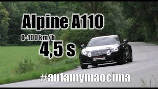 Na stovku za 4,5s ! Alpine A110 - #autamymaocima 04