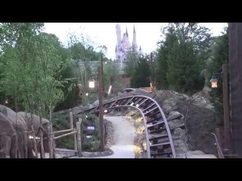 Seven Dwarfs Mine Train Ride Testing - Magic Kingdom - April 21 2014 - Walt Disney World