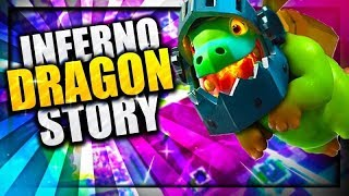 How did the Baby Drag become the Inferno Dragon? - Inferno Dragon Origin Story | Clash Royale Story
