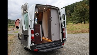 Gorgeous Converted Van Outfitted For Full Time Living