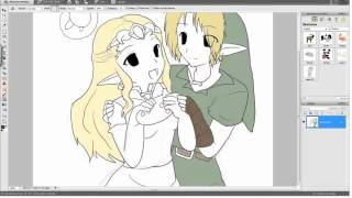 How I draw Link and Zelda chibi form