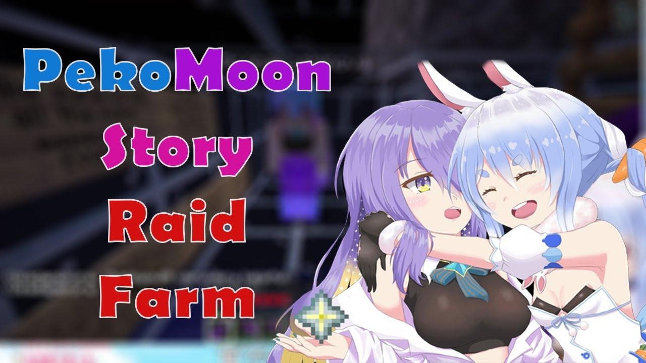 [PekoMoon Story] Where Moona teach Pekora how to use Raid Farm and go on a little journey!!