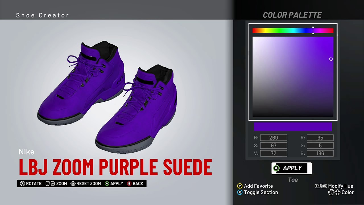 NBA 2K19 Shoe Creator - Nike LeBron