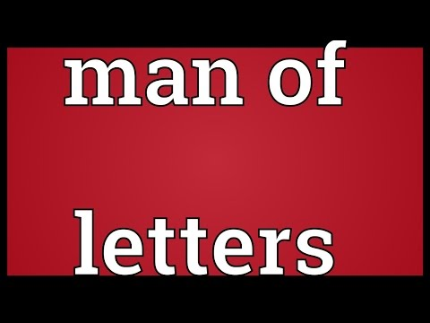 Man of letters Meaning