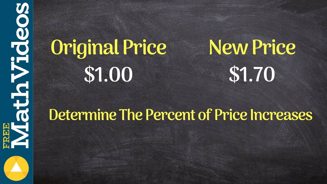 Tutorial how to determine the percent price increase between two tutorial how to determine the percent price increase between two values youtube ccuart Choice Image