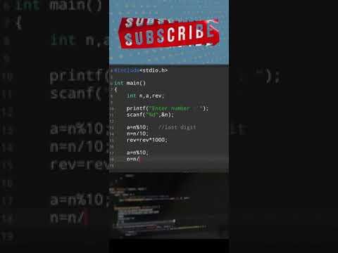 Reverse the number in c using modulus operator   basic coding   programming   #shorts