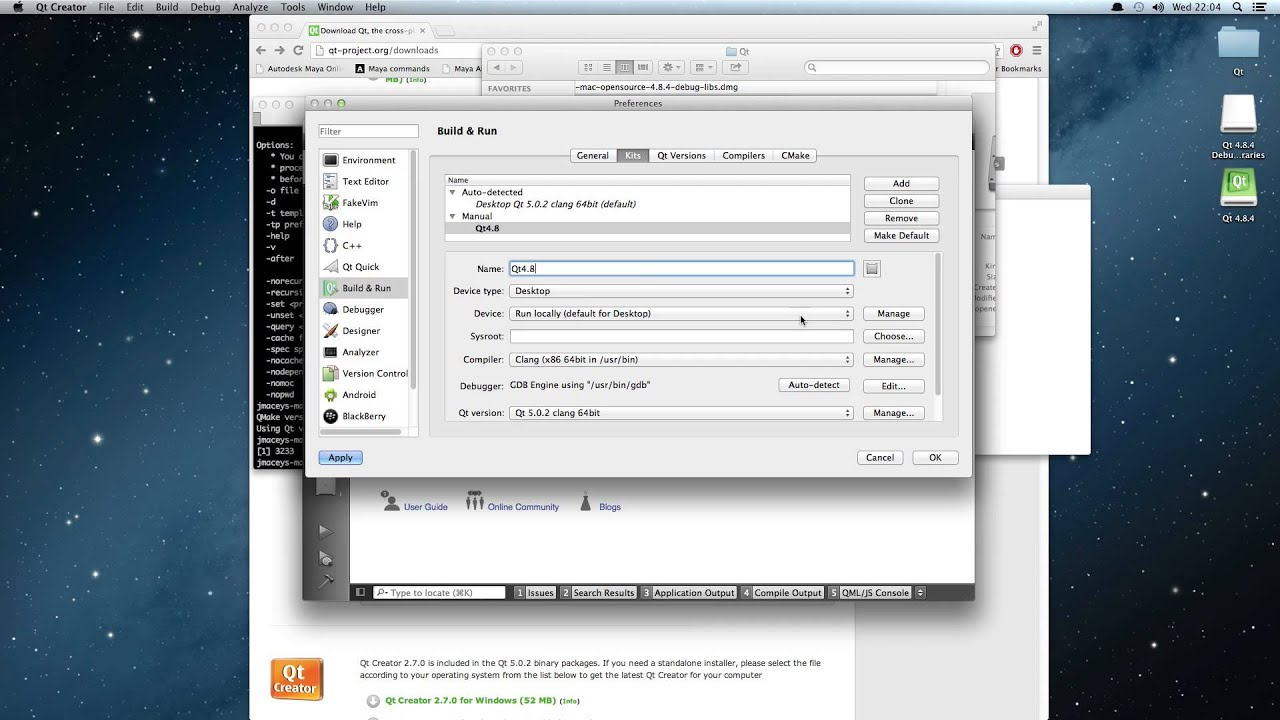 How To install Qt / NGL on a new Mac Pt4