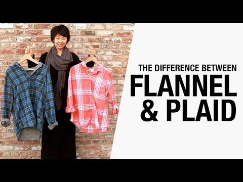 Difference between flannel and plaid