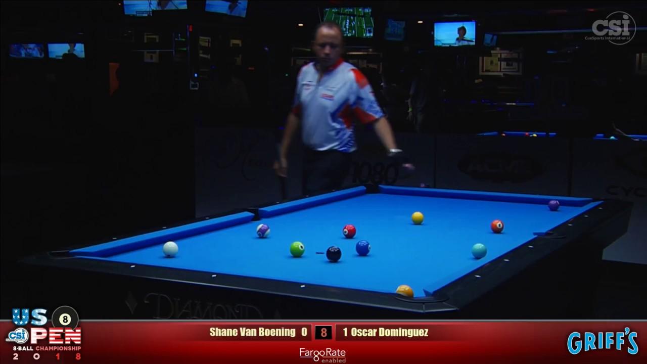 8-BALL CLIFFHANGER | Shane Van Boening vs Oscar Dominguez | 2018 US Open 8-Ball Championship