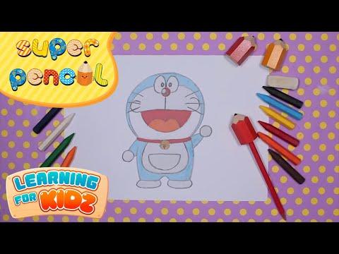 Siêu Nhân Bút Chì Tập 22 - Super Pencil Ep.22 - Doraemon - Easy Drawing For Kids - Learning For Kidz