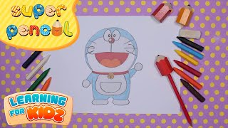 Siêu Nhân Bút Chì Tập 22 - Super Pencil Ep.22 - Doraemon - Easy Drawing For Kids - Learning For Kidz