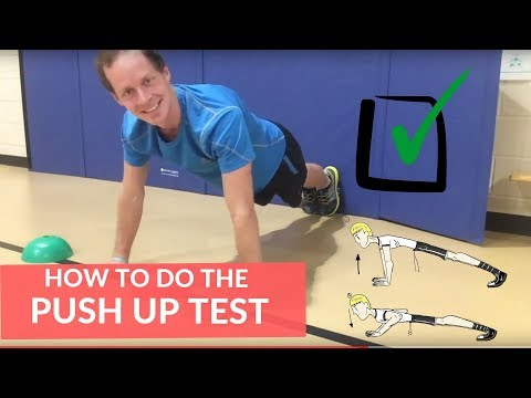 How to do the Push Up Test |Fitnessgram in PE|