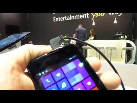 Archos 40 Cesium Windows Phone 8.1 okostelefon bemutató videó