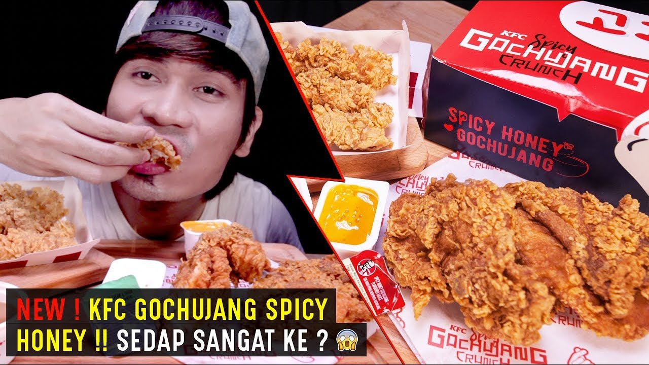NEW ! REVIEW KFC Gochujang Spicy Honey | REAL SOUND EATING SHOW | ASMR MALAYSIA