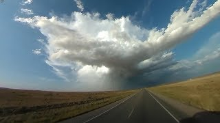 360 Video: Tornado warned supercell with damaging hail near Roswell, NM!