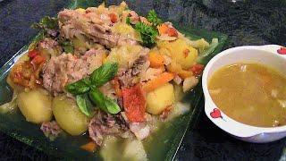 Басма по узбекски или овощи в собственном соку с мясом./ Овощное рагу с мясом./ Думляма.