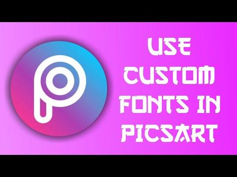 Use any fonts in picsart || custom fonts in picsart