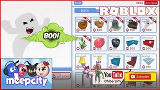 MeepCity | Buying up all the limited Halloween furnitures and wallpapers! | ROBLOX