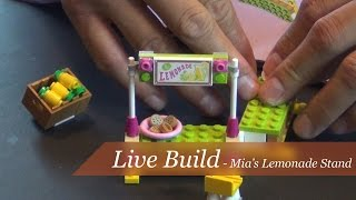 Live Build - Lego Friends Mia's Lemonade Stand Set #41027