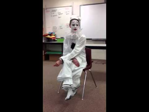 Pierrot White Face Clown Monologue