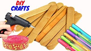 How to make a beautiful craft with popsicle sticks | Home decoration | DIY Craft Compilation