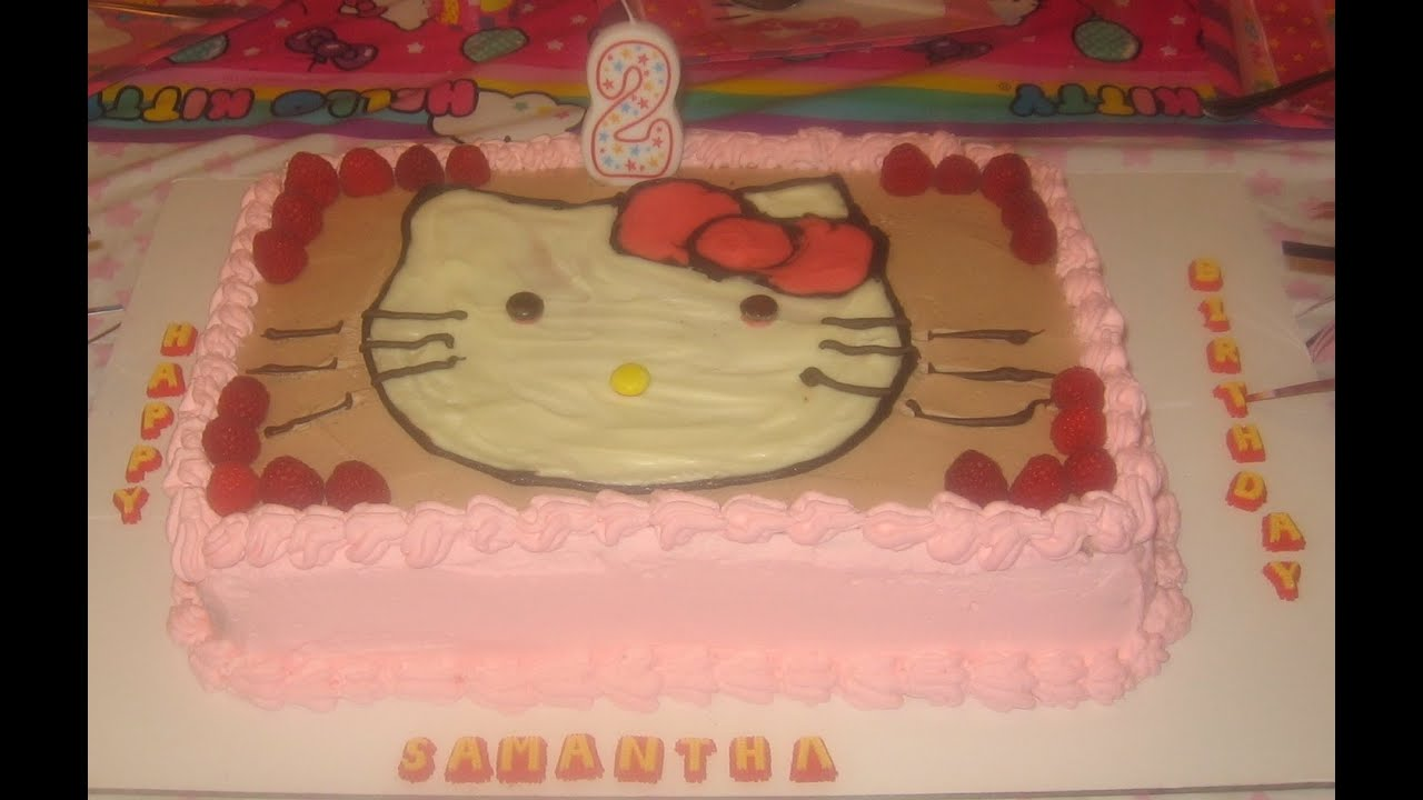 Hello Kitty Cake هلو كيتي كيك White And Dark Chocolate