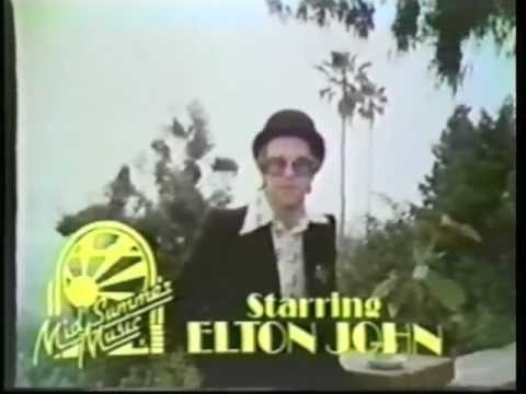 Elton John - Wembley Stadium Concert Television Commercial from 1975