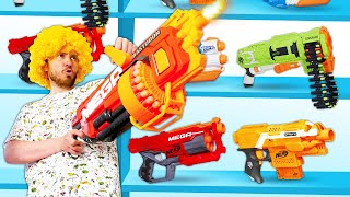 Игры для мальчиков - Тестируем Нерф бластеры – Нерферы в видео шоу для детей.