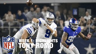 Tony Romo Highlights (Week 1)| Giants vs. Cowboys | NFL