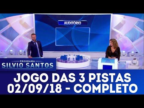 Jogo das 3 Pistas com Maíra Charken e Rodrigo Phavanello | Programa Silvio Santos (02/09/18)